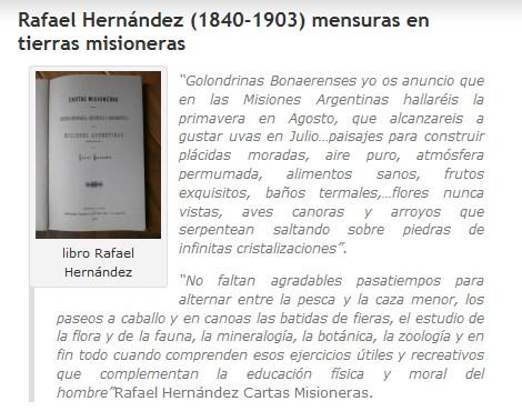 Rafael Hernández (1840-1903) mensuras en tierras misioneras